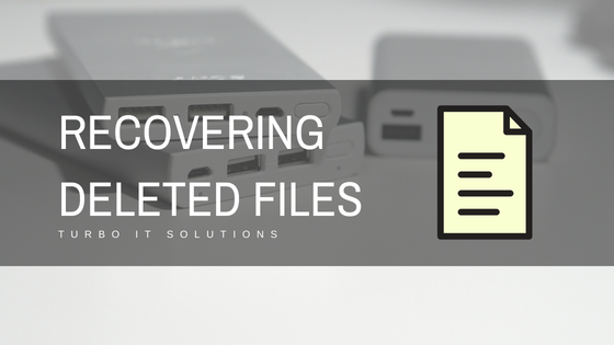 How To: Recover Deleted Files -